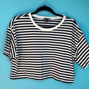 Cropped Stripped Top